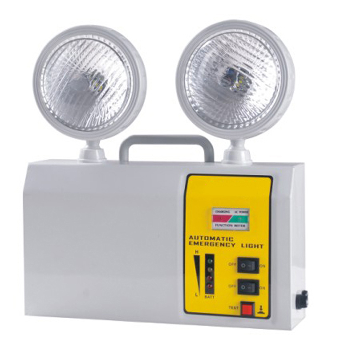 LED emergency light twin spots