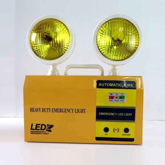 yellow twin spots led rechargeable emergency light