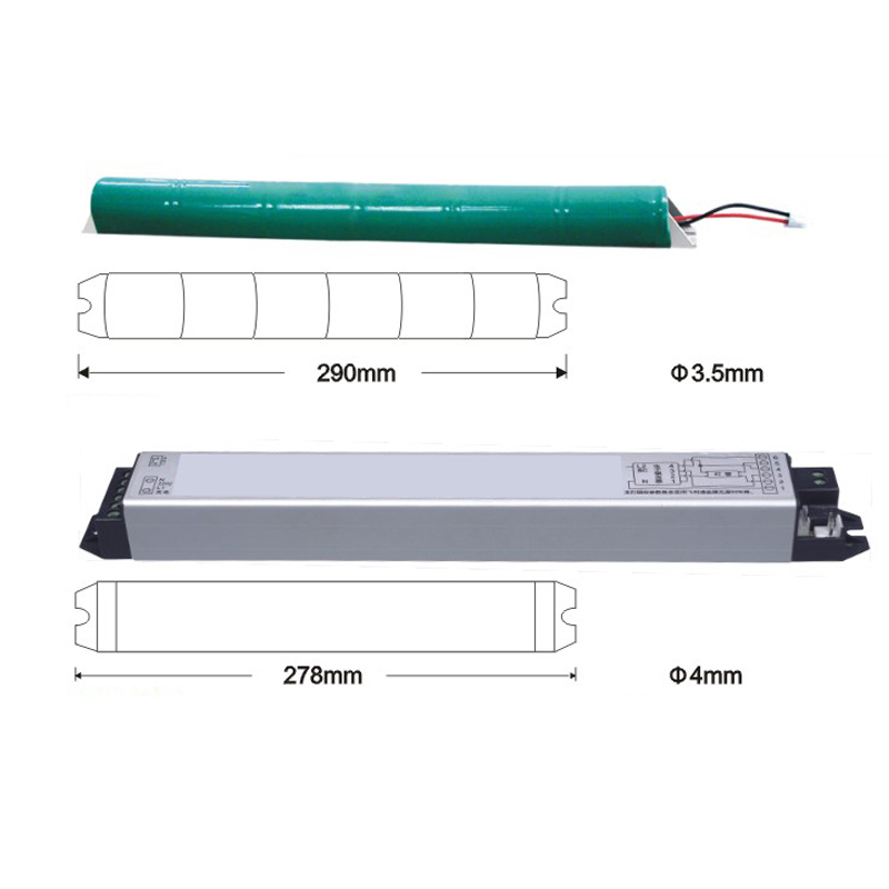 emergency light battery