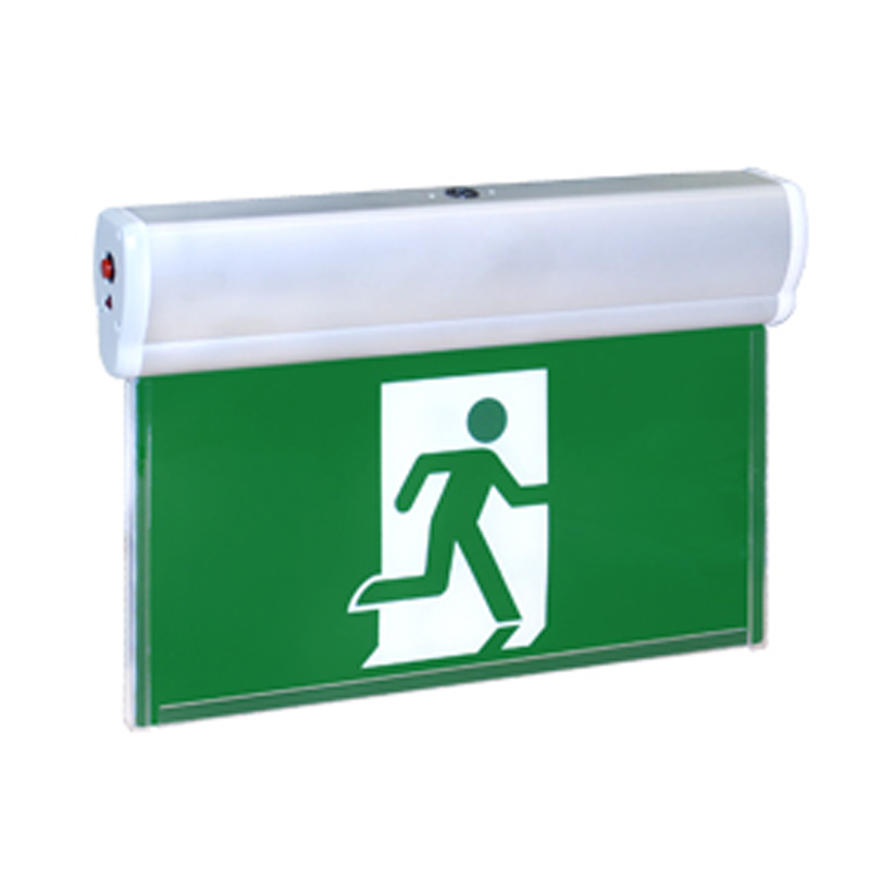 LED edge-lit running man exit sign