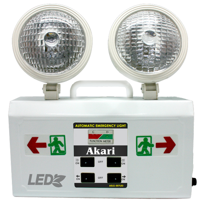 LED Rechargeable Emergency light with Exit Light philippines standard