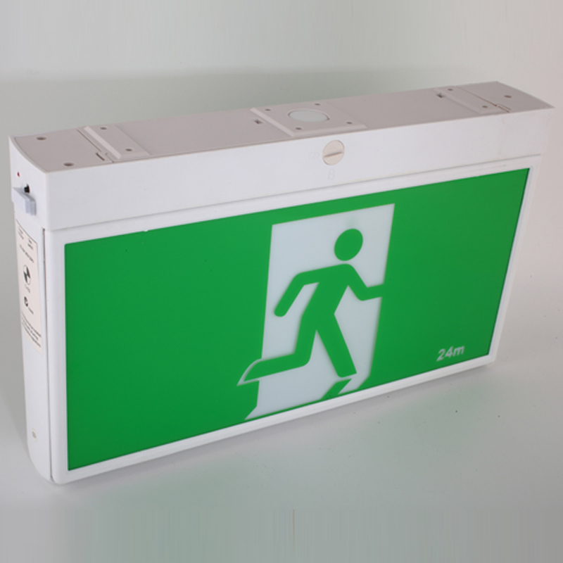 Auto Testing LED Exit Sign Board for Europe