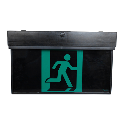 Black Blade LED Exit Sign