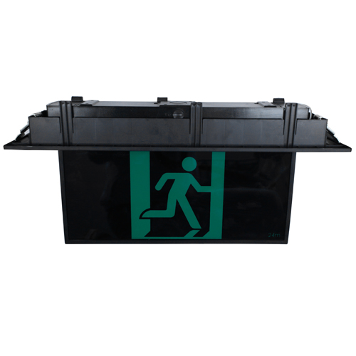 Black Recessed LED Exit Sign