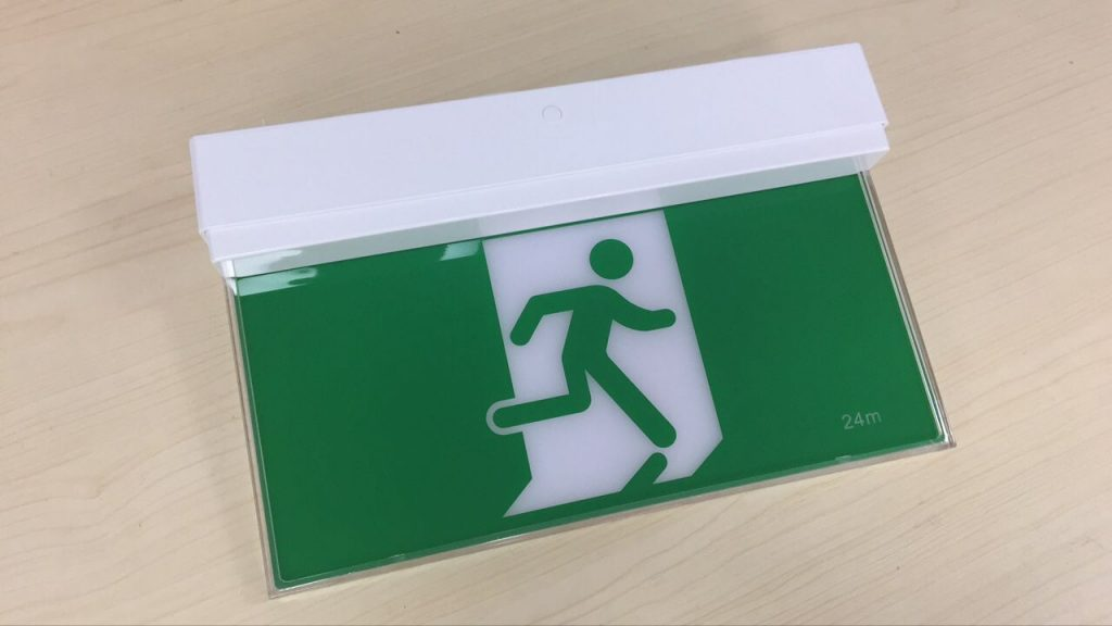 emergency exit sign light
