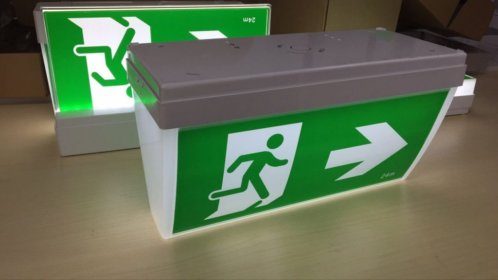 exit sign ceiling mount